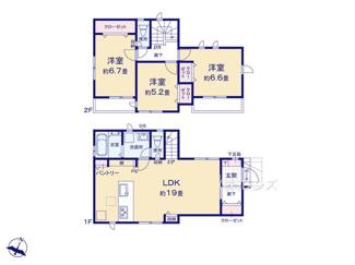 2号棟:間取り変更が容易なスケルトンインフィル住宅の3LDK
