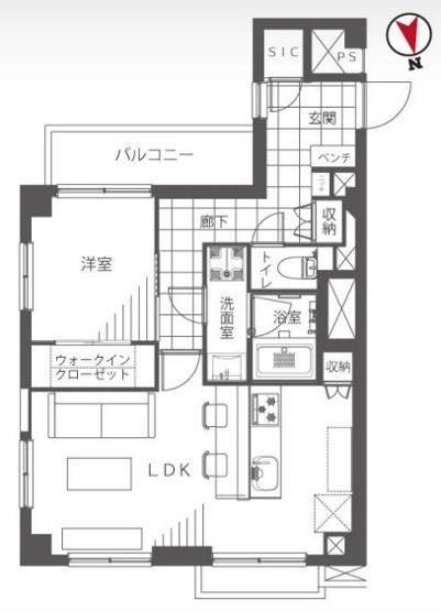 西荻窪マンション:最上階・3方向角部屋!バス・トイレ別の暮らしやすい1LDKエアコン付きデザイナーズリノベーション物件です!