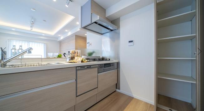 西荻窪マンション:あると便利な食器洗浄機付きの対面式システムキッチンです!