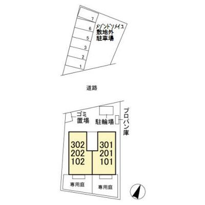 【区画図】メゾンドソメイユ