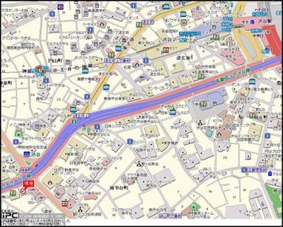 【地図】パレステュディオ渋谷WEST