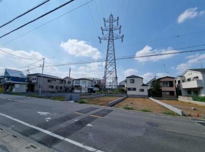 【前面道路含む現地写真】所沢市若狭3丁目 全6棟 5号棟