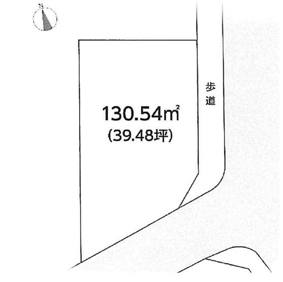 【土地図】上野坂1丁目建築条件無売地