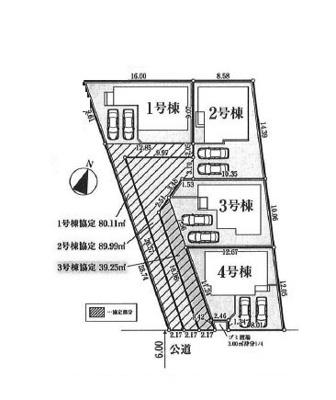 【区画図】坂戸市石井新築戸建