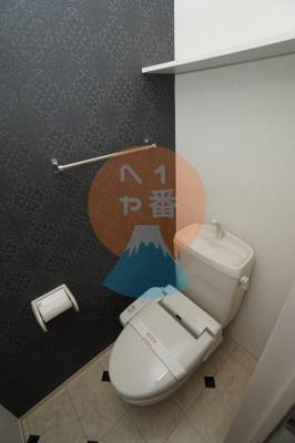 ネット無料。うれしいウォシュレット付きトイレです。