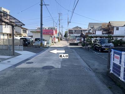 【前面道路含む現地写真】佐賀市白山1丁目