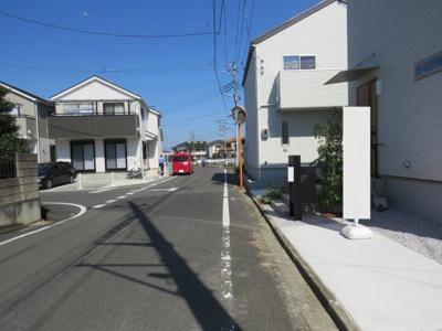 【前面道路含む現地写真】坂戸市芦山町新築戸建
