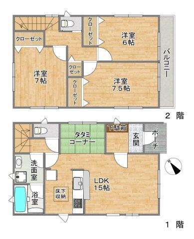 藤沢市片瀬5丁目 新築戸建1号棟の画像