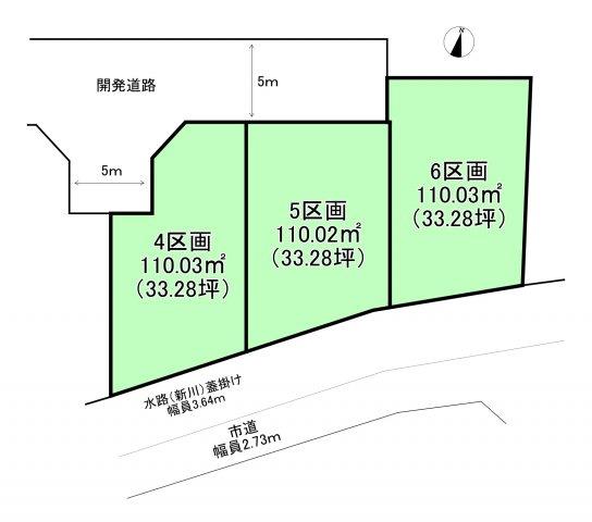 【区画図】西東京市泉町5丁目 土地 西武池袋線 保谷