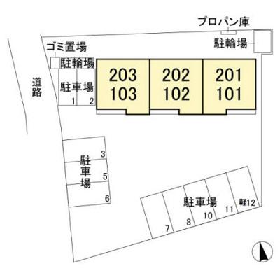 【区画図】ルミエール木崎