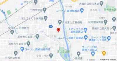 【地図】リーガルメゾン津之江Ⅱ (株)Roots