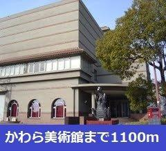 かわら美術館まで1100m