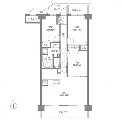 【居間・リビング】メイツ葛西第二  8階 70.92㎡ リ ノベーション済