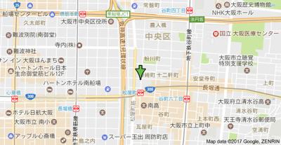 【地図】ディナスティ松屋町Ⅱ