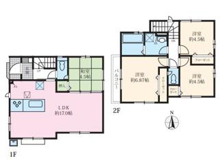 2号棟:広々LDKには寛ぎの和室が隣接、住宅性能表示取得物件