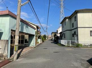 【前面道路含む現地写真】松山市 西石井 売土地 91.13坪
