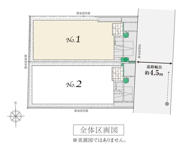 【区画図】仲介手数料無料 中野区鷺宮6丁目新築一戸建て