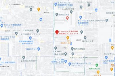 【地図】城南町3-12-9貸家