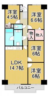 日商岩井多田マンション北棟 4階