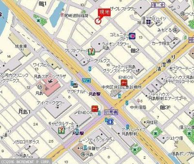 【地図】プレール・ドゥーク月島
