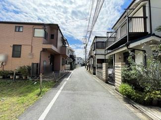 2021/09/10撮影 第一種低層住居専用地域のため閑静な住宅街が広がっています