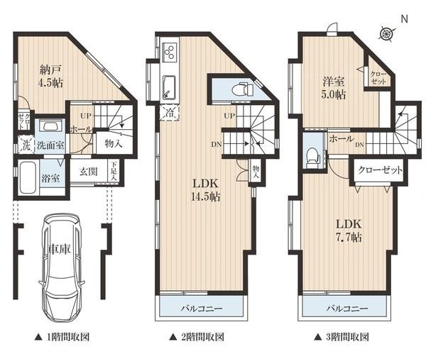 土地面積50.98平米 建物面積74.41平米 設備充実の3LDK! 周辺は閑静な住宅地で住環境良好です。