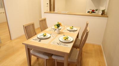 対面キッチンで、ご家族のコミュニケーションも充実