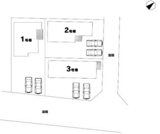 【区画図】高崎市八千代町 7期 1号棟 新築戸建