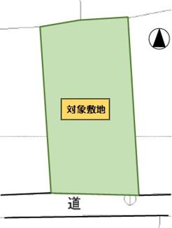 【土地図】八女市本村 土地