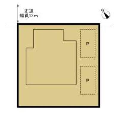 【区画図】つくばみらい市絹の台 中古戸建