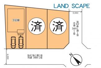 【区画図】伊勢原市板戸 新築戸建 全3棟3号棟