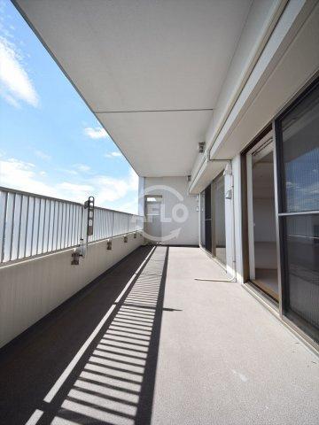 ライオンズマンション大阪スカイタワー 奥行2.26mのバルコニー