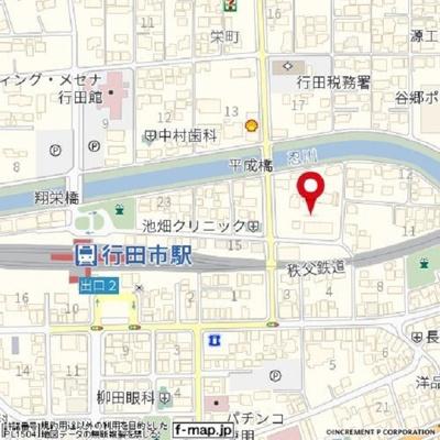 【地図】行田ハイツ2号棟