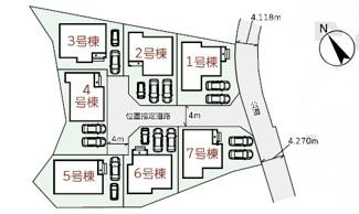【区画図】南城市玉城船越(全7棟)5号棟