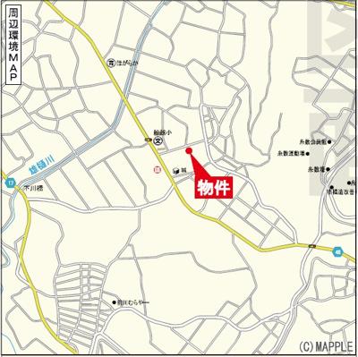 【地図】南城市玉城船越(全7棟)5号棟