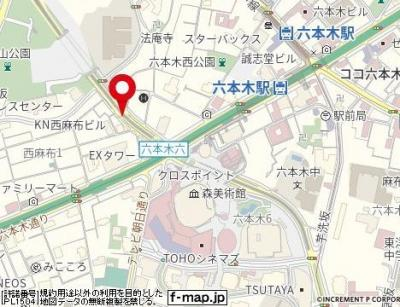 【地図】ロジマン西麻布