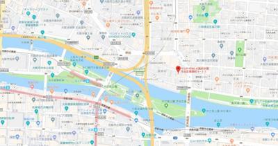 【地図】プレサンスNEO中之島公園