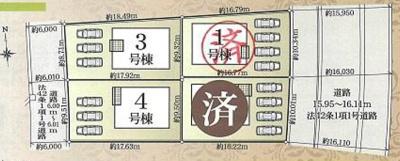 【区画図】北区神宮寺町 第3 AR 新築物件