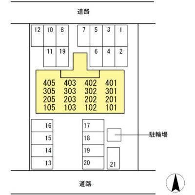 【区画図】ブルージュ・TAKASONE