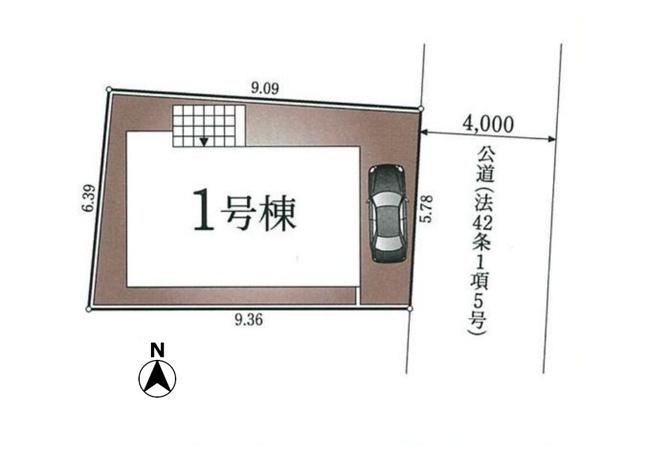 【区画図】西東京市保谷町3丁目 新築戸建て