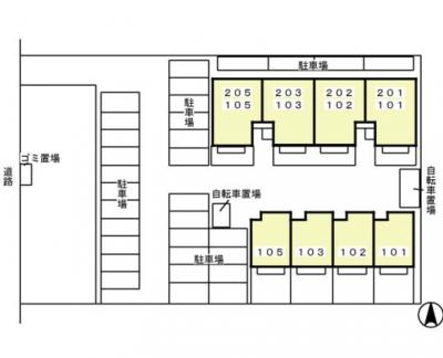 【区画図】リビングタウン入野