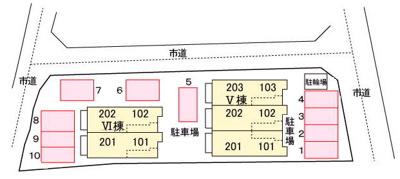 【区画図】メゾン ド グリーンⅤ