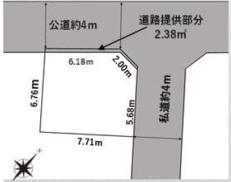 【区画図】豊島区目白4丁目 新築戸建 9280万円