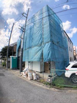 【前面道路含む現地写真】葛飾区亀有2丁目新築戸建て