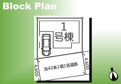 【区画図】葛飾区亀有2丁目新築戸建て
