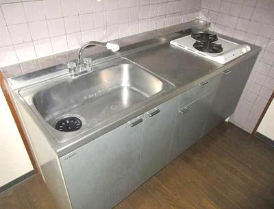 【キッチン】サンライズガーデン 浴室乾燥機 2人入居可 オートロック