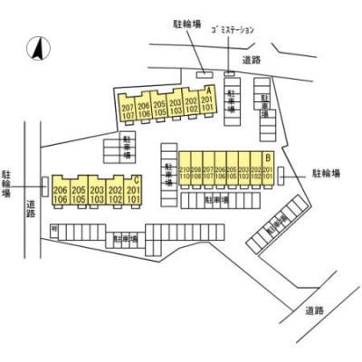 【区画図】プランドール C棟