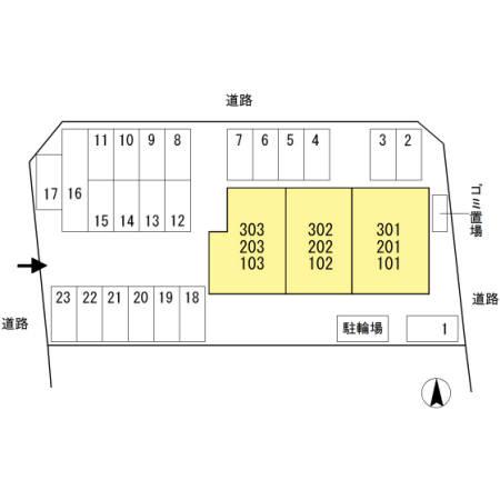 【区画図】サンハイムⅡ
