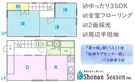 ◆3SDKの暮らしに合わせて利用しやすい間取り◆ 全室洋室なのでお掃除もしやすく家具の配置もしやすいですよ。H19年、R3年にリフォームもされているので、室内綺麗◎