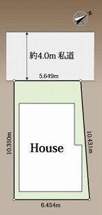 【区画図】新宿区下落合4丁目 中古戸建
